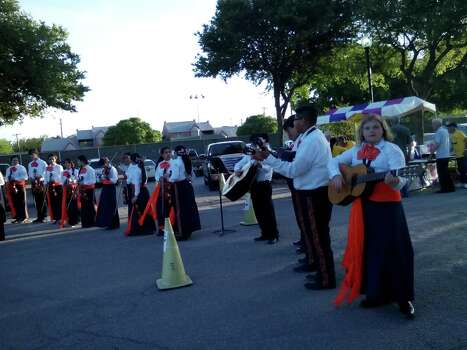 Young marachis perform during Alamo Heights Night, the Alamo Heights Rotary Club's Fiesta event, April 11 at the University of the Incarnate Word. Photo: Edmond Ortiz / Alamo Heights Wee
