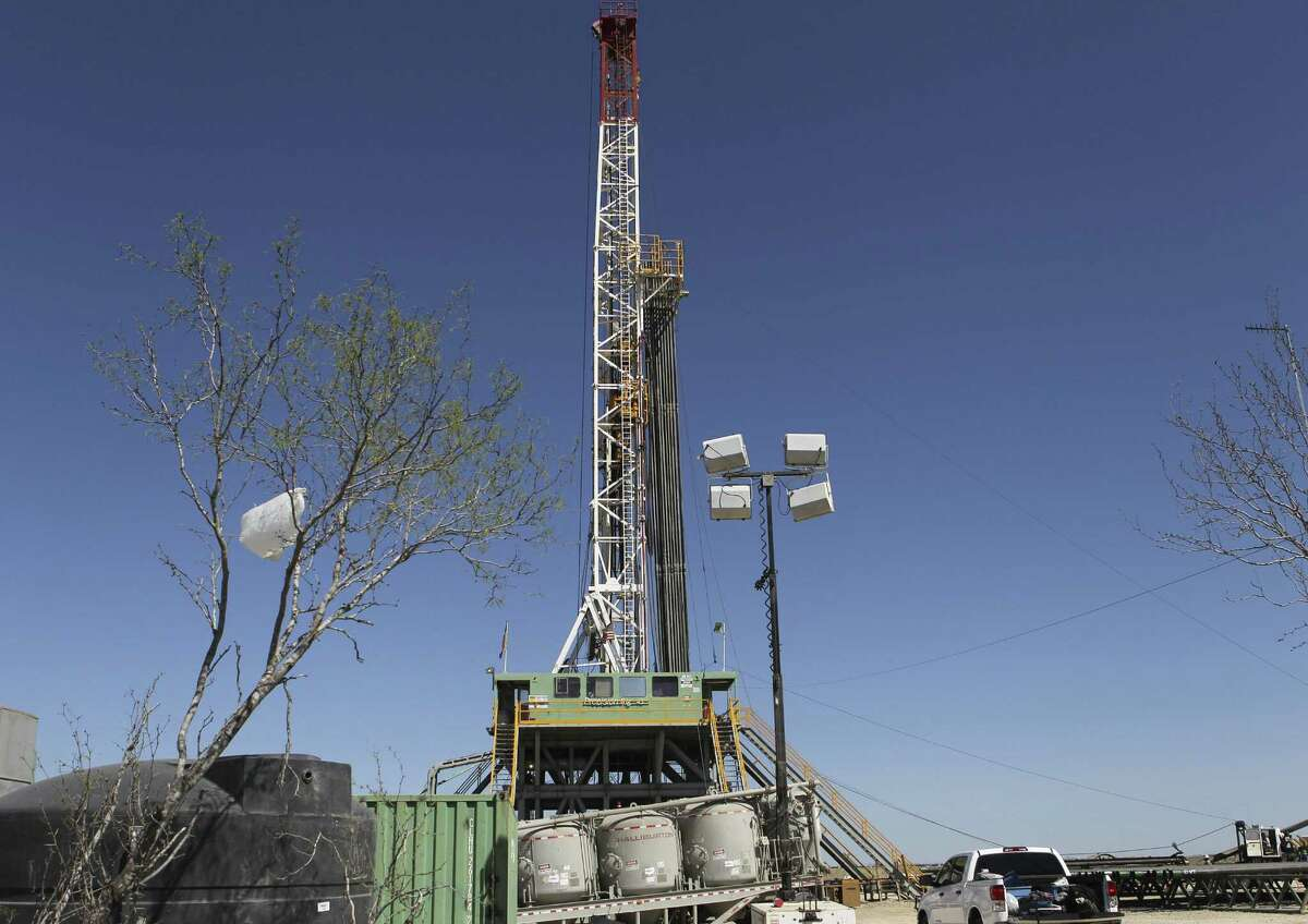 Drilling continues at a rig over the Eagle Ford formation near Cotulla. The Eagle Ford Shale is expected to produce 1.38 million barrels of oil daily in May.