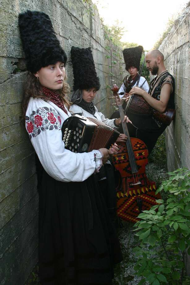 The Ukrainian ensemble DakhaBrakha will perform April 15 as part of the 2014-15 Stanford Live series. Photo: Stanford Live