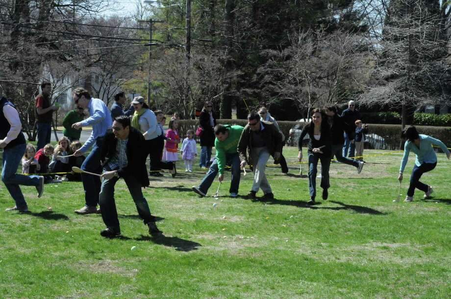 Dozens of families enjoyed a beautiful morning at the 8th Annual Easter Egg Roll at the Pequot Library in Southport. Were you SEEN? Photo: Stacey Scruggs/Hearst Connecticut Media Group