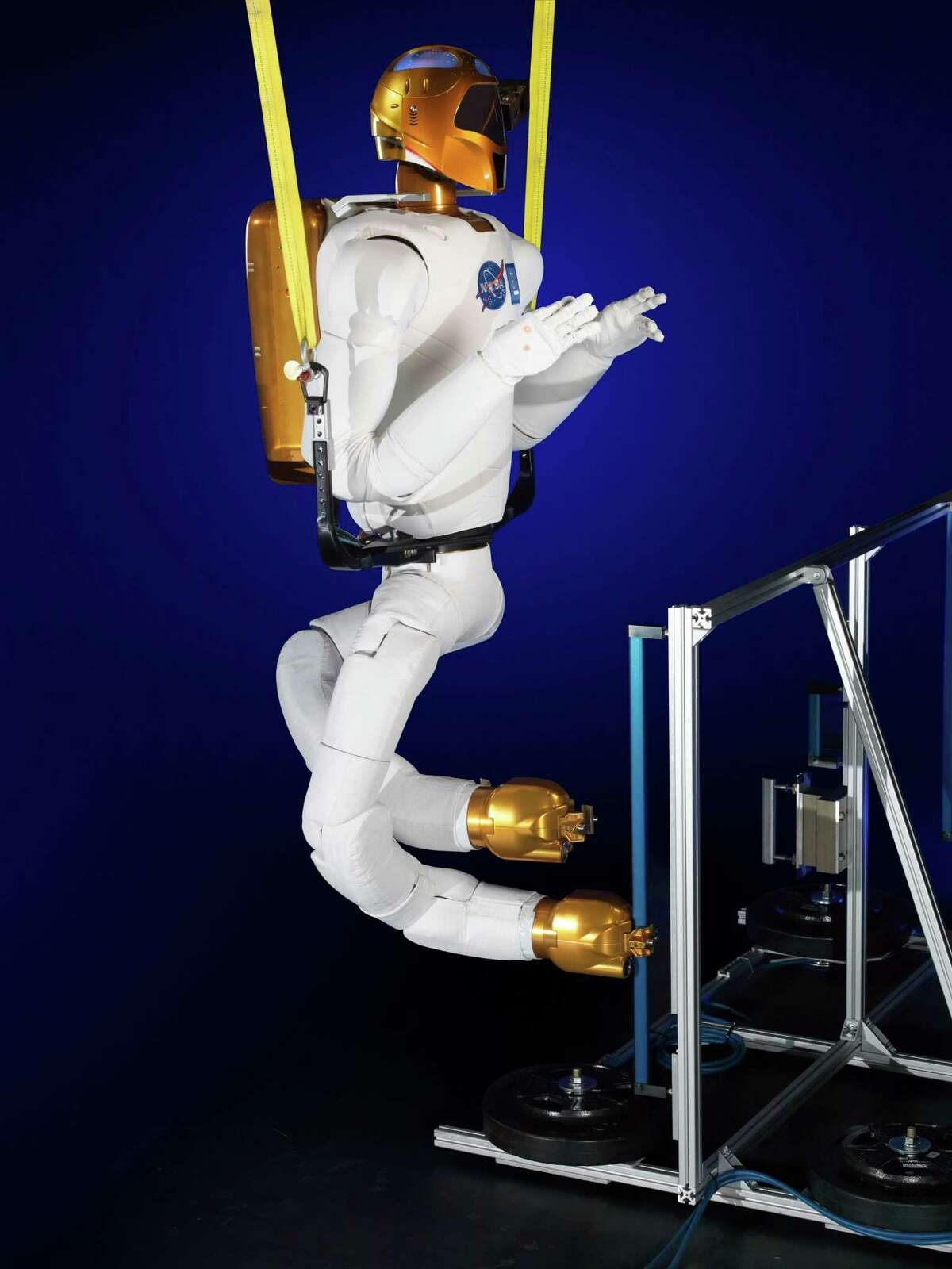 Robonaut - with legs - hung out at Houston's Johnson Space Center before being launched in 2011. On Sunday, it finally gets its space legs, courtesy of SpaceX.