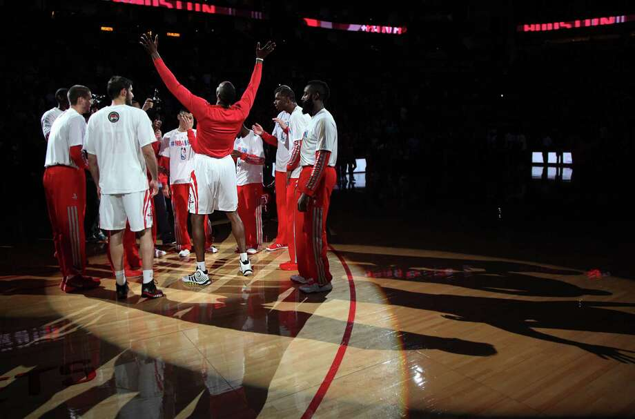 The Rockets insist earning home-court advantage in the first round of the Western Conference playoffs is only the beginning and a starting point for a deep run. Photo: Mayra Beltran, Staff / © 2013 Houston Chronicle