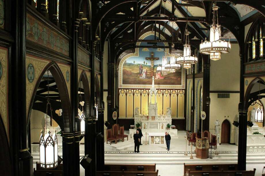 St. Mary Cathedral Basilica will reopen Easter Sunday on April 17, 2014, in Galveston, Tx. Photo: Mayra Beltran, Houston Chronicle / © 2014 Houston Chronicle