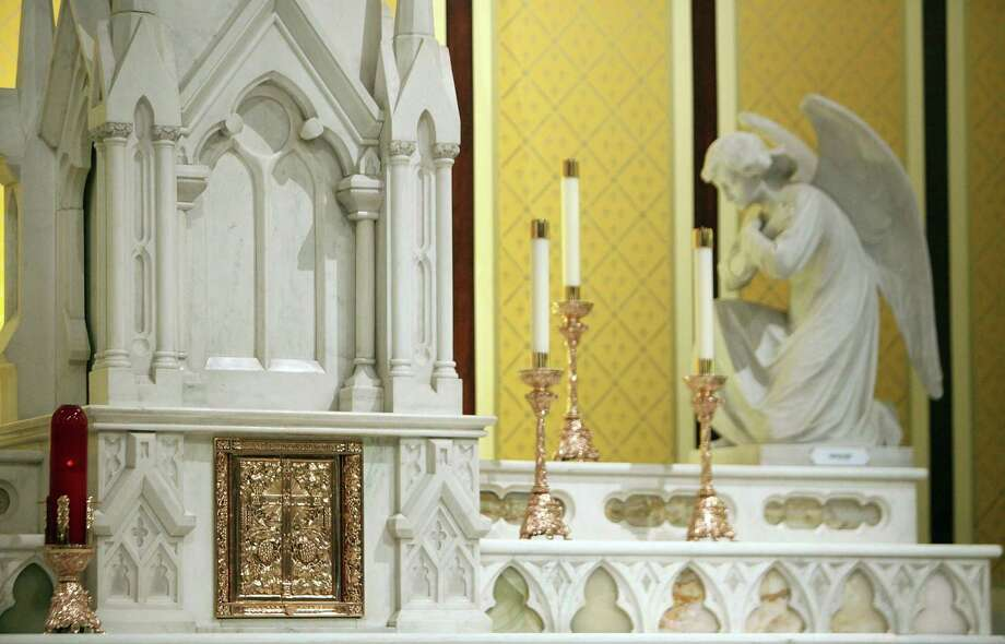 The tabernacle is the focus of the alter inside the newly restored St. Mary Cathedral Basilica on April 17, 2014, in Galveston, Tx. Photo: Mayra Beltran, Houston Chronicle / © 2014 Houston Chronicle