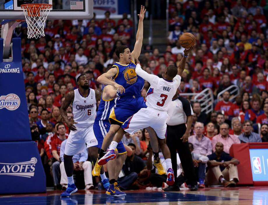 Klay Thompson harassed Clippers point guard Chris Paul into reckless decisions, and in the fourth quarter, Paul couldn't will his team through. Photo: Stephen Dunn, Getty Images