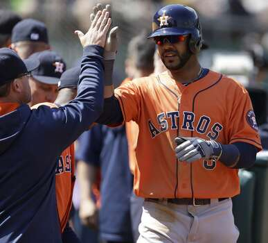 April 19: Athletics 4, Astros 3  Oakland struck for three runs in the bottom of the ninth inning to hand the Astros their 6th loss in a row.  Record: 5-13. Photo: Ben Margot, Associated Press