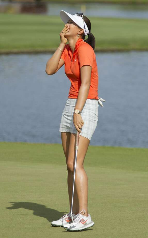 Michelle Wie can't hide her emotions after winning the LPGA Lotte Championship in Hawaii. Photo: Eugene Tanner, Associated Press