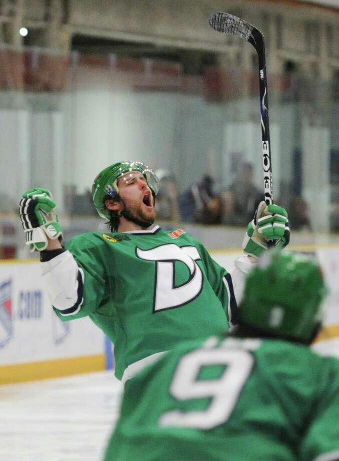Photos from the Dayton Demonz' 9-2 win over the Danbury Whalers in the Federal Hockey League Commissioner's Cup Championship game at the Danbury Ice Arena in Danbury, Conn. Saturday, April 19, 2014. Photo: Tyler Sizemore / The News-Times