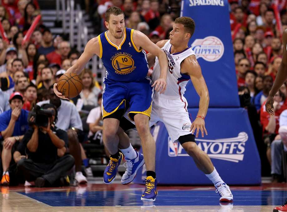 Warriors forward David Lee ended up giving Clippers star Blake Griffin all kinds of grief - on both ends of the floor - in Saturday's Game 1. Photo: Stephen Dunn, Getty Images