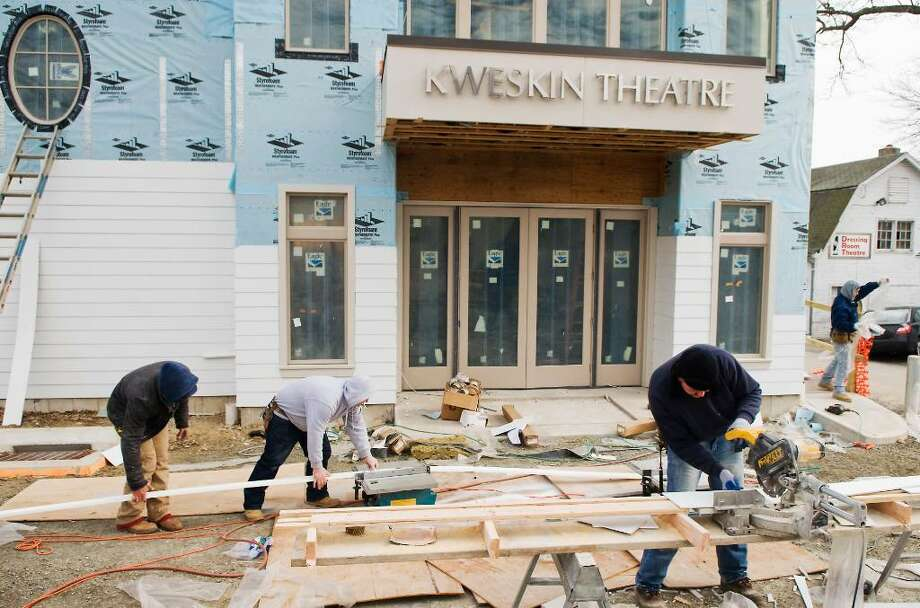 Work continues on the renovation of the Kweskin Theatre, a venue used by Curtain Call at the Sterling Farms Theatre Complex in Stamford, Conn. on Tuesday, Feb. 2, 2010. Photo: Kathleen O'Rourke / Stamford Advocate