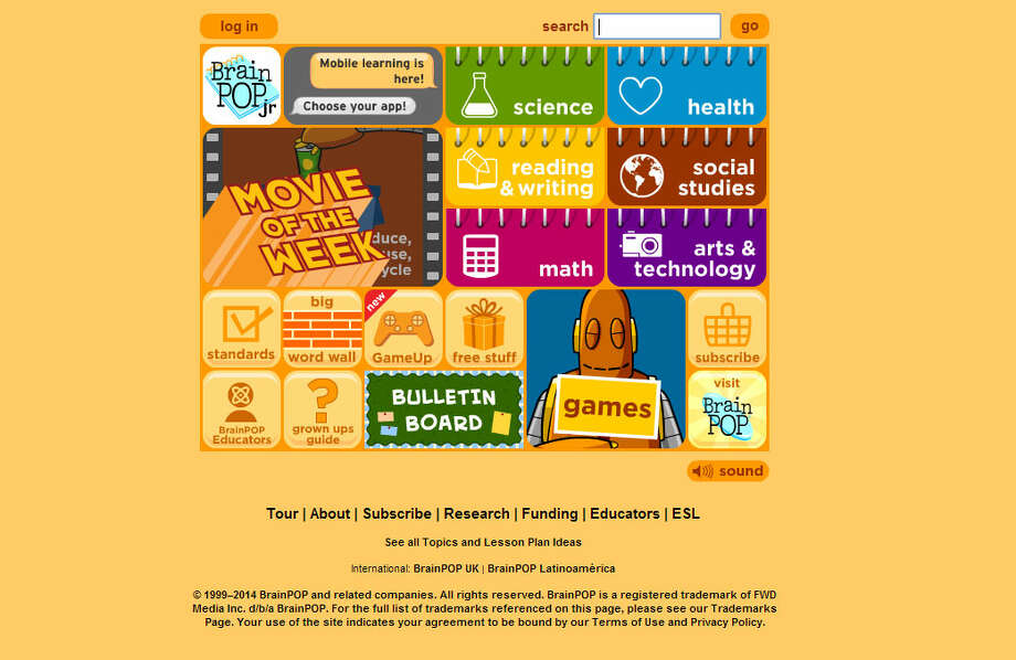 For younger kids…BrainPOPjr.com: Just like BrainPOP, but designed for the kindergarten through third-grade crowd. Photo: BrainPOPjr.com
