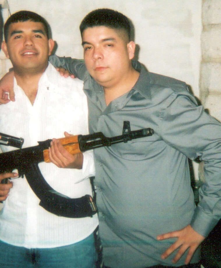 """Texas SyndicateTier 1 ThreatDPS:Texas Syndicate (TS) is a violent prison gang that originated  in the California penal system over 40 years ago. Texas Syndicate  moved into Texas Department of Criminal Justice (TDCJ) prisons and  onto the streets, often working with Mexican cartels such as Los  Zetas. Recent law enforcement investigations targeting the gang have  resulted in the arrest of high-ranking members, dismantling top  leadership positions within each of TS's regional hierarchies. Texas  Syndicate remains a resilient criminal threat to Texas.  Above: This undated picture, introduced as evidence at the trial of former Texas Syndicate Laredo sillon, or chairman, Tomas """"Tom Cat"""" Barrera, 41, shows Jorge """"La Mona"""" Gomez, who was identified during the 2009 trial as a Zeta cartel operative who police believe has since died, and Texas Syndicate member Juan Manuel """"Pugs"""" Marquez Rodriguez, 31. Marquez pleaded guilty to two murders he'd been hired to take part in by the Zetas and is serving a 20-year prison sentence."""