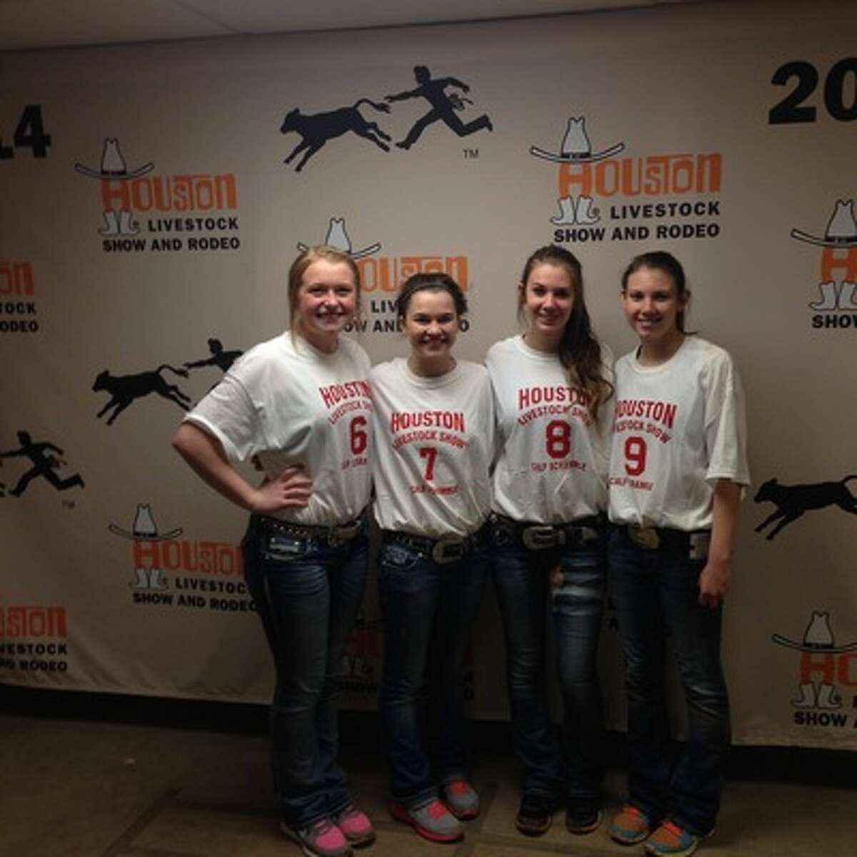 Bailey Beken, from left, Blair Allen, Courtney Smith and Shelby Smith