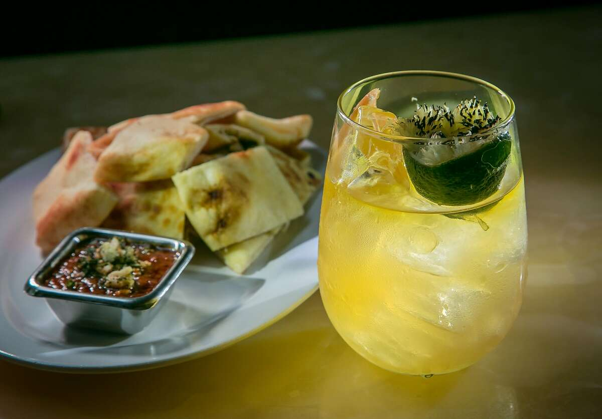 The Punch with the Naan Bits at Mortar and Pestle in San Mateo, Calif., are seen on Wednesday, April 16th, 2014.