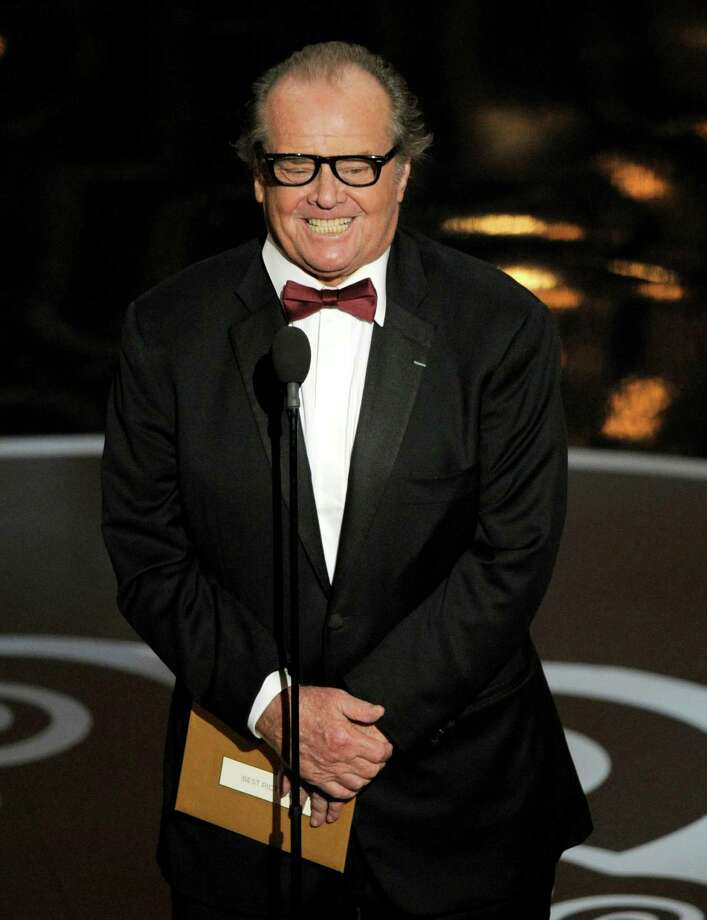 Actor Jack Nicholson presents the award for best picture on stage during the Oscars at the Dolby Theatre on Sunday Feb. 24, 2013, in Los Angeles.  (Photo by Chris Pizzello/Invision/AP) Photo: Chris Pizzello / Invision