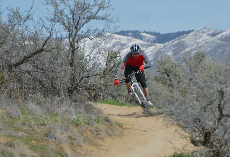 Single-track thrills: Dan Kouba rides on the Red Fox Trail in Boise. Photo: Roger Phillips, Associated Press