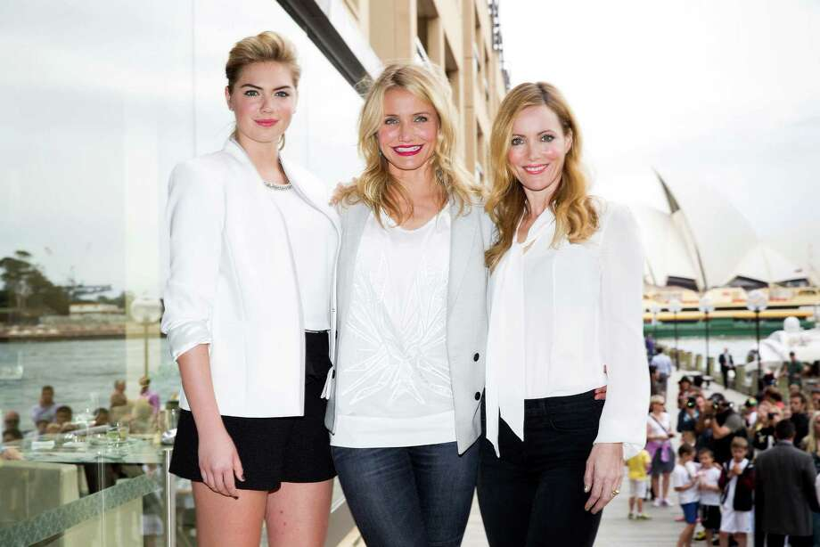 "Kate Upton, Cameron Diaz and Leslie Mann pose for a photo call to promote the release of ""The Other Woman"" at the Park Hyatt on April 15, 2014 in Sydney, Australia.  (Photo by Caroline McCredie/Getty Images) Photo: Caroline McCredie, Multiple / 2014 Getty Images"