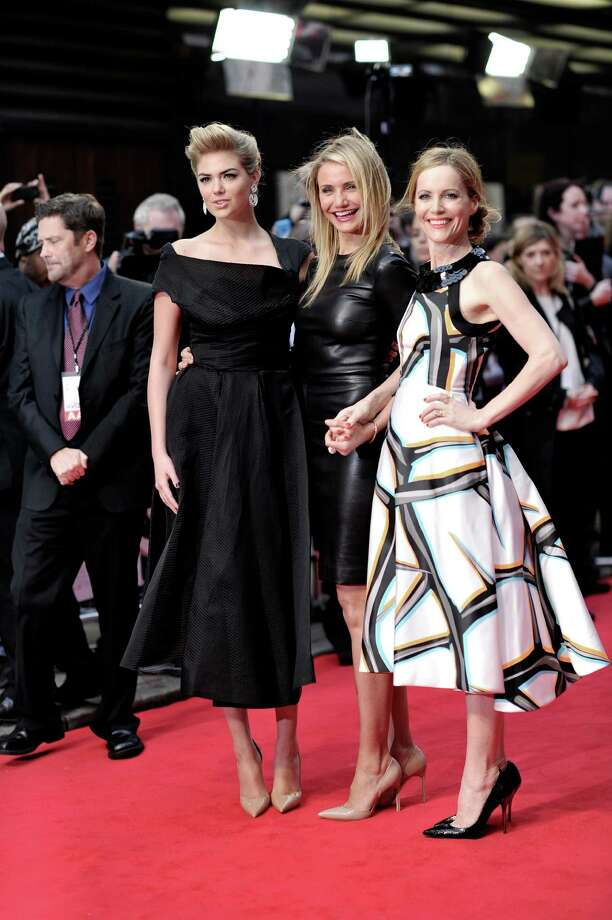(L to R) Kate Upton, Cameron Diaz and Leslie Mann attend the UK Gala premiere of 'The Other Woman' at The Curzon Mayfair on April 2, 2014 in London, England.  (Photo by Gareth Cattermole/Getty Images) Photo: Gareth Cattermole, Multiple / 2014 Getty Images