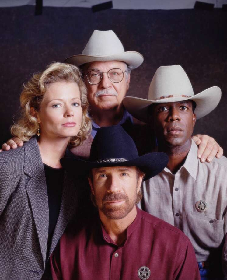 Chuck Norris (center foreground) stars as modern-day Texas Ranger Cordell Walker, whose independent crime-solving methods have their roots in the rugged traditions of the Old West, in the action-drama series. Photo: TONY ESPARZA, CBS