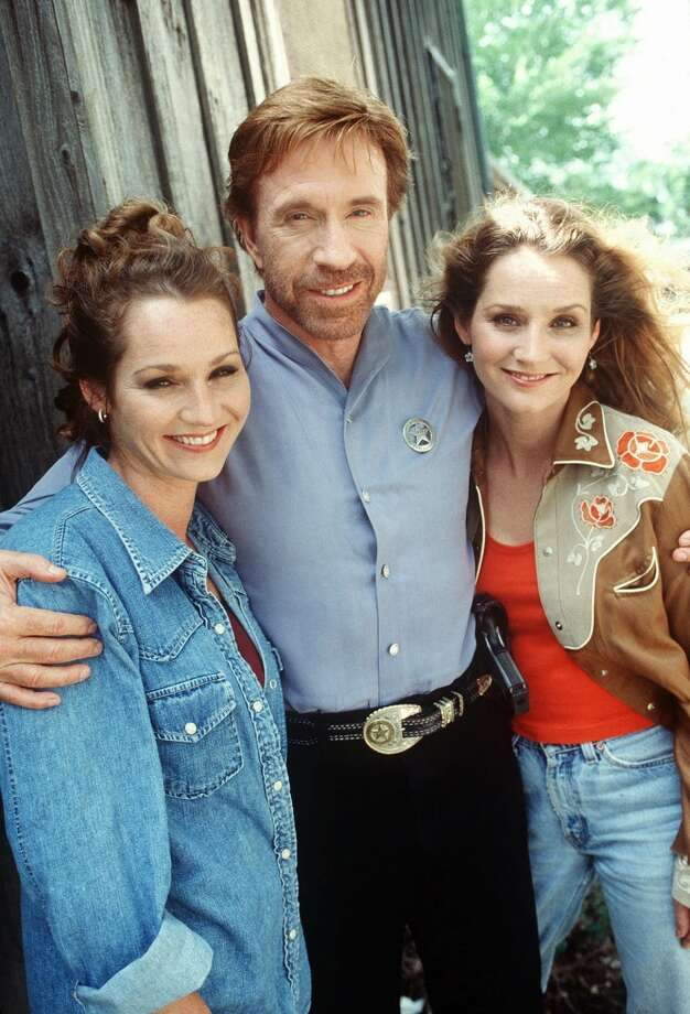 Walker (Chuck Norris) must rescue Country music stars The Lynn Sisters (Patsy, left and Peggy, playing themselves) from a group of thugs determined to make millions from bootlegging their last performance. Photo: MONTY BRINTON, CBS