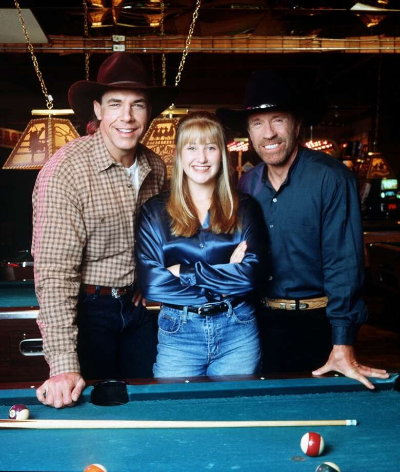 Country music singer Lila McCann guest stars as a troubled teen who fulfills her dream of becoming a professional singer with the help of Ranger Cordell Walker (Chuck Norris, right) and his friend, country singer Michael Peterson (guest starring as himself). Photo: MONTY BRINTON, CBS