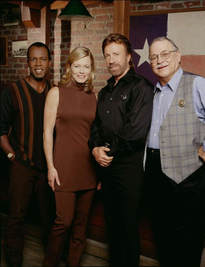 Returning to the popular action drama about modern day Texas Rangers are (left to right) Clarence Gilyard as Ranger James Trivette, Sheree J. Wilson as assistant district attorney Alex Cahill, legendary Chuck Norris as Ranger Cordell Walker and Noble Willingham as retired ranger C.D. Parker. Photo: CLIFF LIPSON, CBS