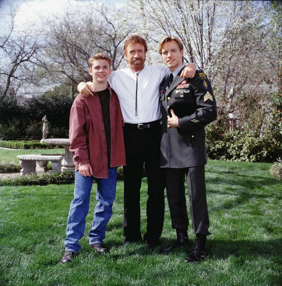 Walker (Chuck Norris) helps his former  Kick Drugs Out of America  student Trent Malloy (Jimmy Wlcek, in uniform) and his younger brother Tommy (Shane Meier) make the transition into manhood and carry on the strong legacy of his friend, and their father, Thunder. Photo: VAN REDIN, CBS