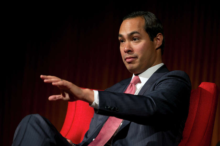 Mayor of San Antonio, Julian Castro speaks during the 'Pathway to the American Dream: Immigration Policy in the 21st Century' panel at the Civil Rights Summit at the LBJ Presidential Library on the University of Texas campus in Austin, Tx., on Tuesday, April 8, 2014. Photo: Deborah Cannon, Photo Pool / POOL PHOTO
