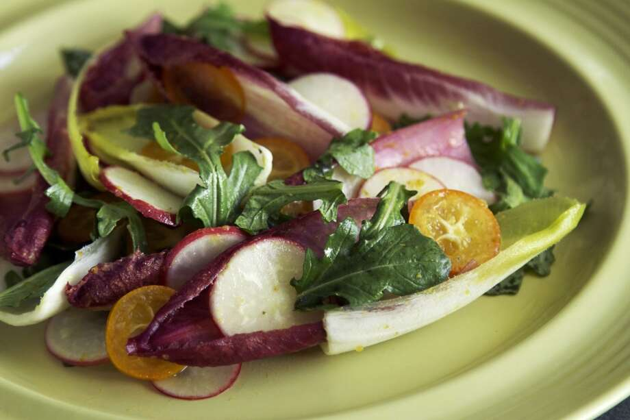 Staffan Terje's Belgian Endive Salad With Radishes & Kumquats. Photo: Paige Hermreck, Special To The Chronicle