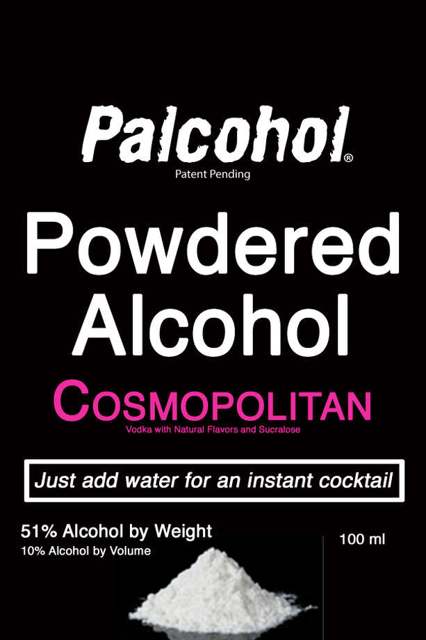 "A label for the ""Cosmopolitan"" version of ""Palcohol"" powdered alcohol. Photo: LIPSMARK LLC Via Alcohol And Tobacco Tax And Trade Bureau"