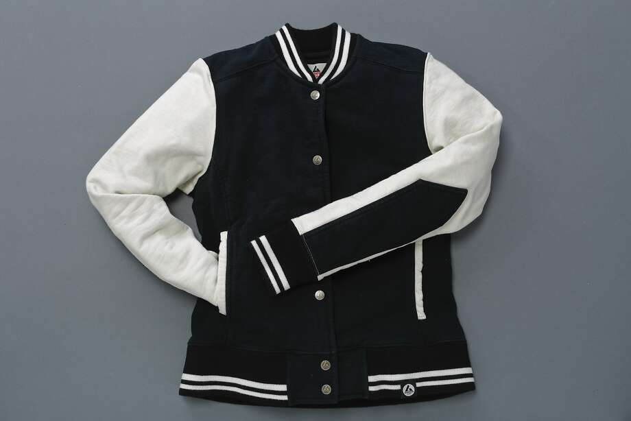 Women's varsity jacket, $99, by American Giant. Photo: Russell Yip, The Chronicle