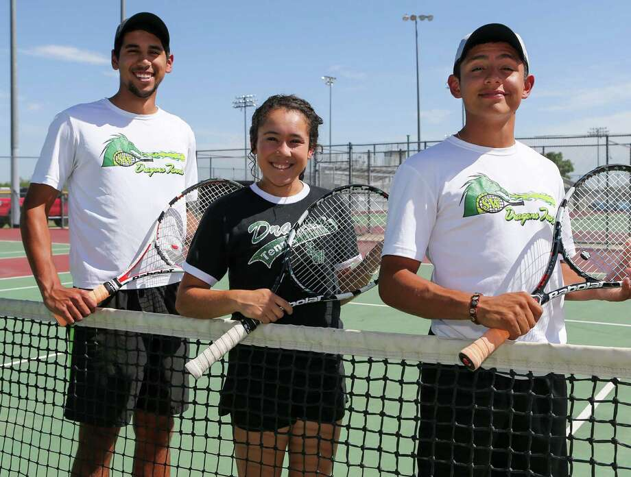 Left to right are Southwest's Nathaniel Barron, Maria Briones and Steven Maldonado. They lost at regionals. Photo: Marvin Pfeiffer / SSR / Express-News 2014