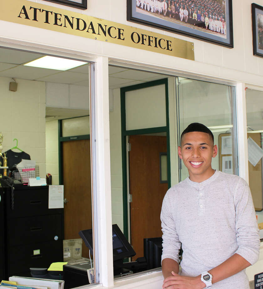 Kennedy High School senior Jordan Fernandez, who will graduate June 7, 2014, has been in class every day since pre-kindergarten and he has never been tardy; that is roughly 2,520 school days. Photo: Edgewood ISD
