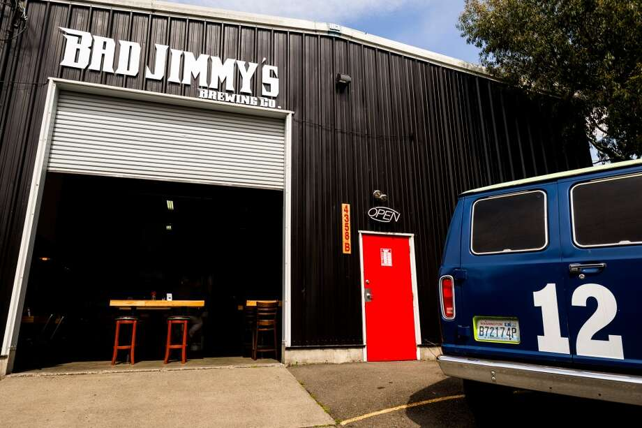 Bad Jimmy's Brewing Co., 4358B Leary Way NW, Frelard:  Though lots of small tasting rooms have limited hours, Bad Jimmy's - which just opened last year - has the hours of a regular bar, open every day until midnight or 2 a.m. on Friday and Saturday. Come and watch sports or movies on the projector screen and sample a taste of the habanero amber. Photo: JORDAN STEAD, SEATTLEPI.COM