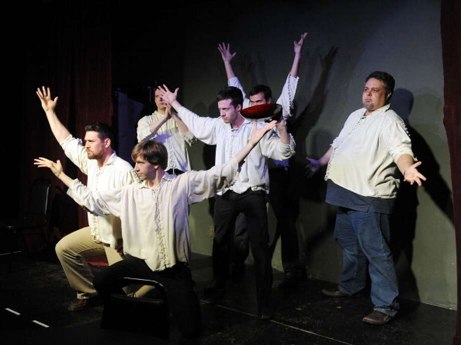 """America's Funniest Cities8. Denver - """"Laid-back and High...on Life?""""Pictured: Makeshift Shakespeare actors/comedians lead by Chris Gallegos, right, on stage at Voodoo Comedy Playhouse in Denver, March 10, 2012. Photo: Andy Cross, Getty Images / Denver Post"""