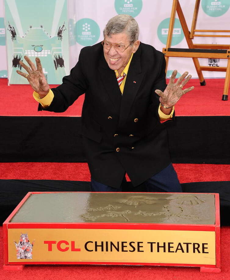 "America's Funniest Cities7. Los Angeles - ""Show-Biz Satire""Pictured: Comedian Jerry Lewis is honored with a Hand And Footprint Ceremony at TCL Chinese Theatre IMAX on April 12, 2014 in Hollywood. Photo: Jason LaVeris, Getty Images / 2014 Jason LaVeris"