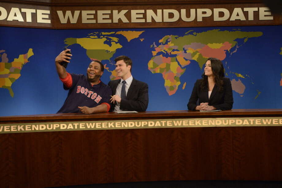 "America's Funniest Cities6. New York City - ""High Speed and High Stress""Pictured: Saturday Night Live films its ""Weekend Update"" sketch at 30 Rockefeller Plaza in New York in April. Photo: NBC, Getty Images / 2014 NBCUniversal Media, LLC"