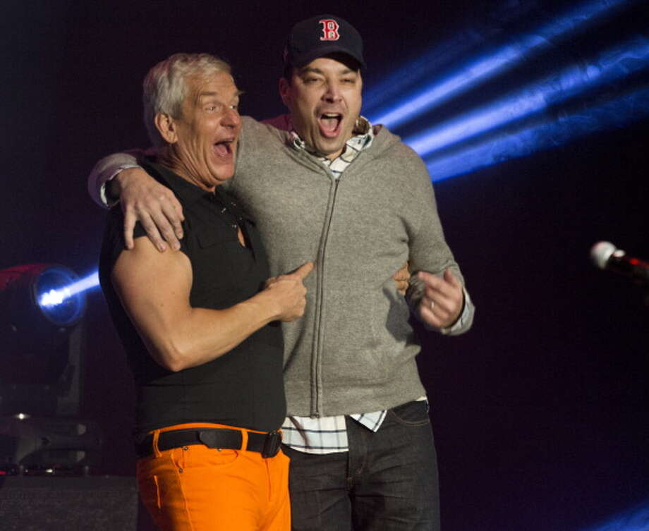 "America's Funniest Cities2. Boston - ""Balancing Brains and Booze""Pictured: Comedians Lenny Clark and Jimmy Fallon after performing at ""Comics Come Home,"" a fundraiser for the Neely House at Agganis Arena on Nov. 16, 2013, in Boston. Photo: Boston Globe, Getty Images / 2013 - The Boston Globe - The Boston Globe"