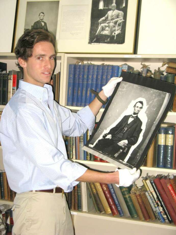 "Peter W. Kunhardt, Jr., the director of the Meserve-Kunhardt Foundation, represents the fifth generation to maintain his family's famed collection of photographs of Abraham Lincoln. He is also the guest curator of the ""Lincoln, Life-Size"" exhibit opening tomorrow at the Bruce Museum. Photo: Anne W. Semmes / Greenwich Citizen"