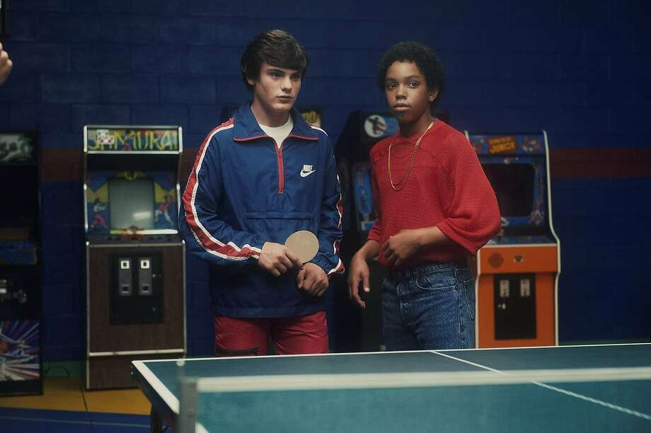 "A scene from ""Ping Pong Summer,"" starring Marcello Conte (left) as Rad and Myles Massey as Teddy. Photo: SF Film Festival"