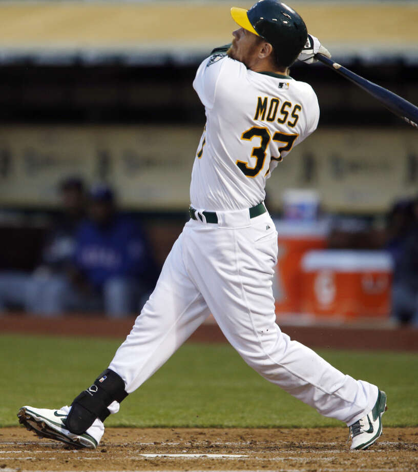 Brandon Moss is the third All-Star position player traded by the A's since the end of July. Photo: Carlos Avila Gonzalez / The Chronicle / ONLINE_YES