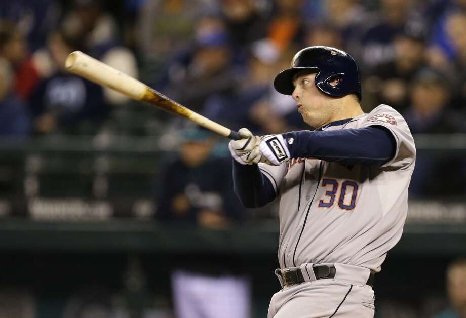 April 21: Astros 7, Mariners 2  Matt Dominguez & Co. got to King Felix early and often as the Astros snapped a seven-game skid with a win in Seattle.   Record: 6-14. Photo: Ted S. Warren, Associated Press