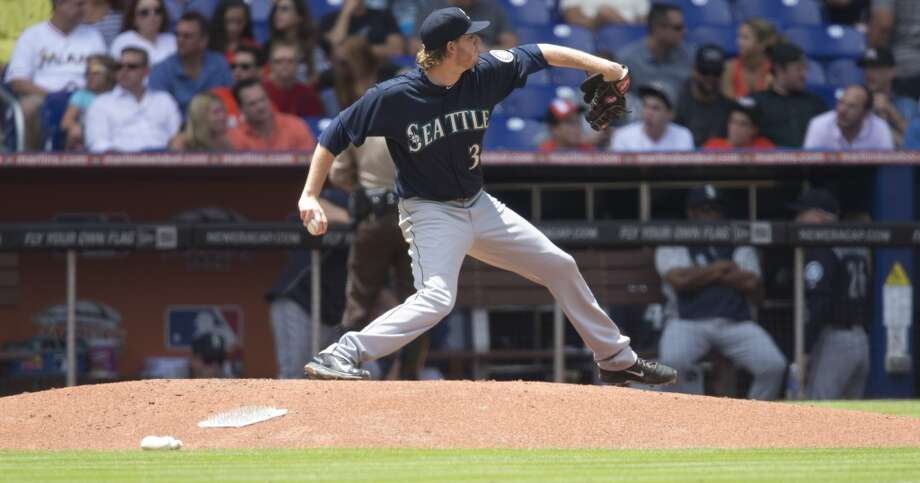 Sunday, April 20 Mariners 2, at Rangers 3 The M's bullpen gave up two runs in the eighth inning, wasting a productive outing from Triple-A call-up Brandon Maurer -- one run over 4 1/3 innings -- as the Marlins secured the series sweep. Photo: J Pat Carter, Associated Press