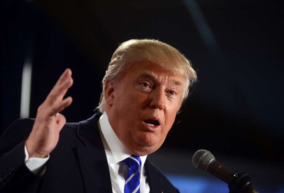 Donald Trump speaks at the Freedom Summit at The Executive Court Banquet Facility April 12, 2014 in Manchester, New Hampshire. The Freedom Summit held its inaugural event where national conservative leaders bring together grassroots activists on the eve of tax day. Photo by Darren McCollester/Getty Images) Photo: Darren McCollester, Getty Images / 2014 Getty Images