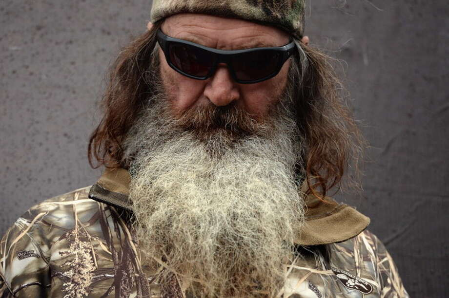 Phil Robertson takes part in pre-race ceremonies for the NASCAR Sprint Cup Series Duck Commander 500 at Texas Motor Speedway on April 6, 2014 in Fort Worth, Texas.  (Photo by Patrick Smith/Getty Images ) Photo: Patrick Smith, Getty Images / 2014 Getty Images