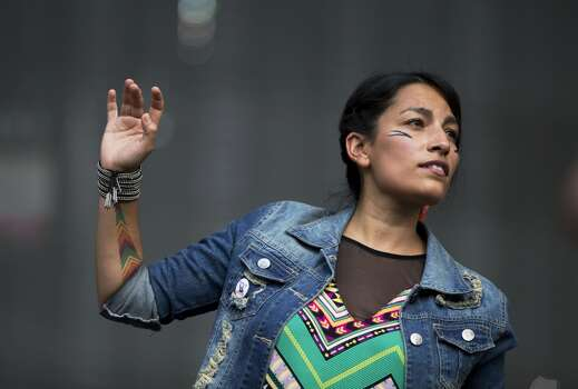 Ana Tijoux:Fridays, October 3 & 104:15-5:15 p.m.Bevintel Stage (3rd) and Zilker Stage (10th) Photo: Rebecca Blackwell, Associated Press