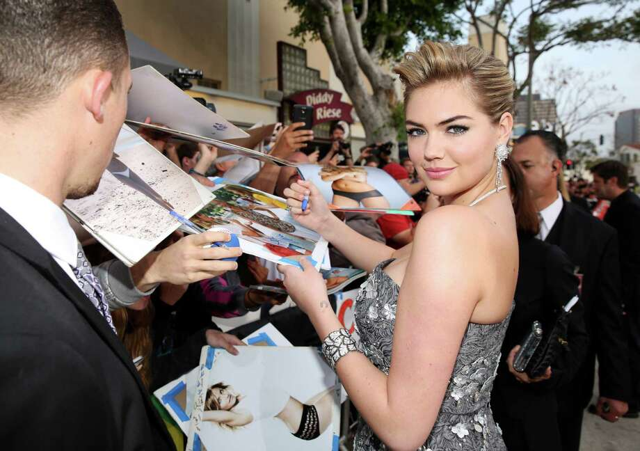 "Kate Upton arrives at the Los Angeles premiere of ""The Other Woman"" at the Regency Village Westwood on Monday, April 21, 2014. Photo: Matt Sayles, AP / AP2014"