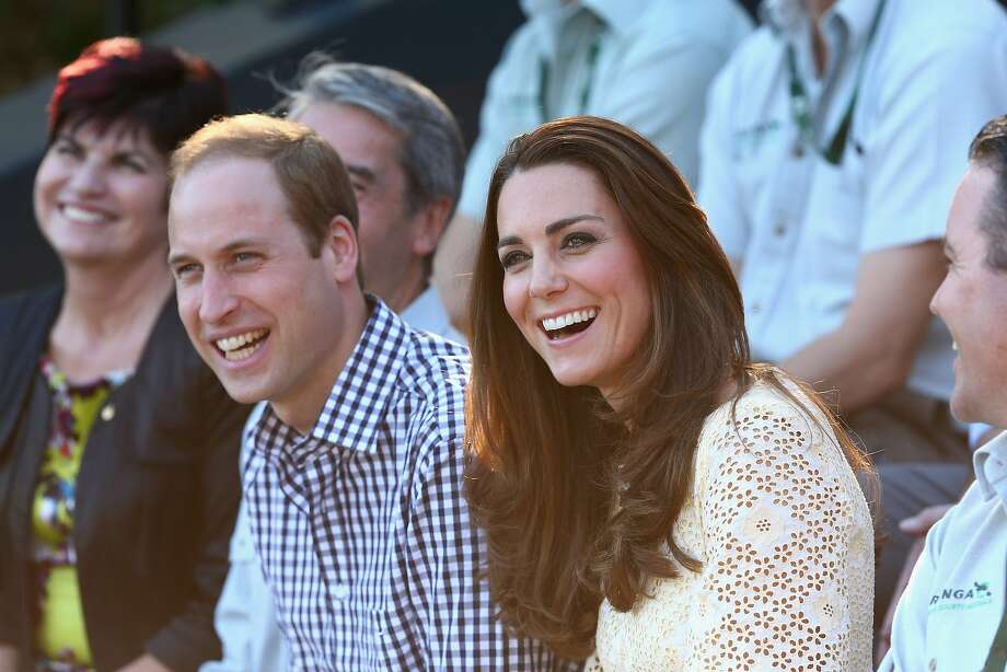 Prince William, Duke of Cambridge and Catherine, Duchess of Cambridge watch the Bird Show at Taronga Zoo on April 20, 2014 in Sydney, Australia. The Duke and Duchess of Cambridge are on a three-week tour of Australia and New Zealand, the first official trip overseas with their son, Prince George of Cambridge. Photo: Cameron Spencer, Getty Images