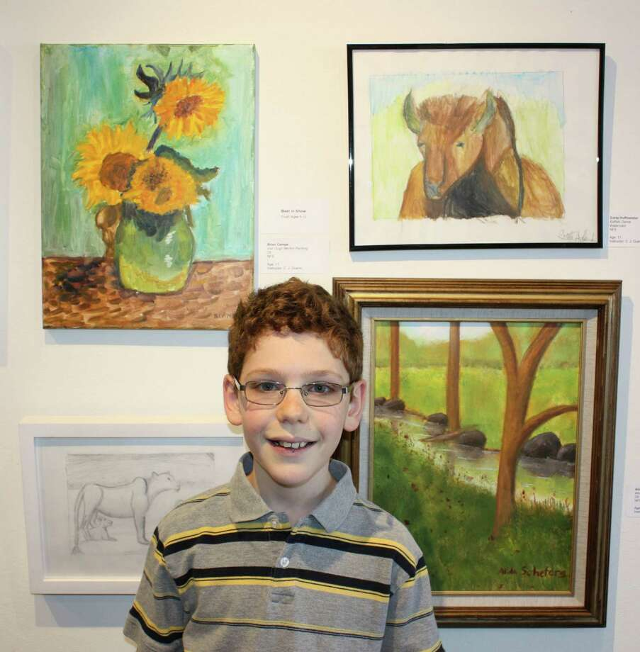 "Brian Campe, of New Canaan, won the Best in Show award in the youth category for ages 5 to 12 for his oil painting ""Van Gogh Mentor Painting"" during the Silvermine Arts Center's 24th annual Juried Student Exhibition. Photo: Contributed Photo, Contributed / New Canaan News Contributed"