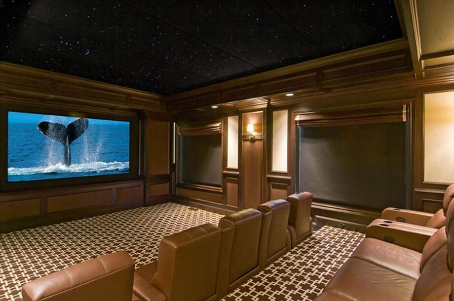 The 10-seat home theater Photo: The Corcoran Group